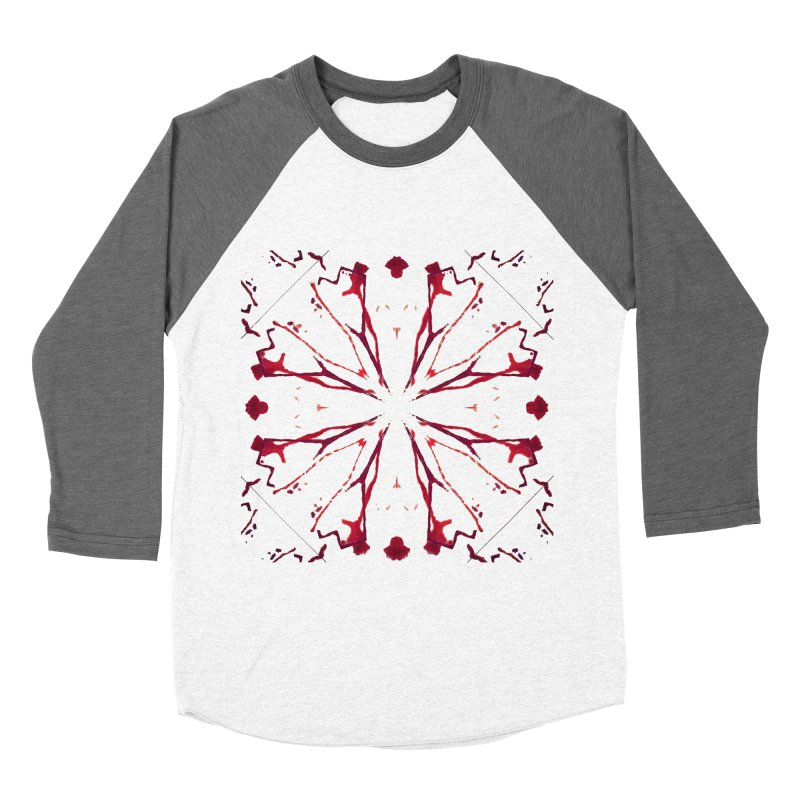 Blood Blossom Men's Baseball Triblend T-Shirt by Make Art Eat Pudding