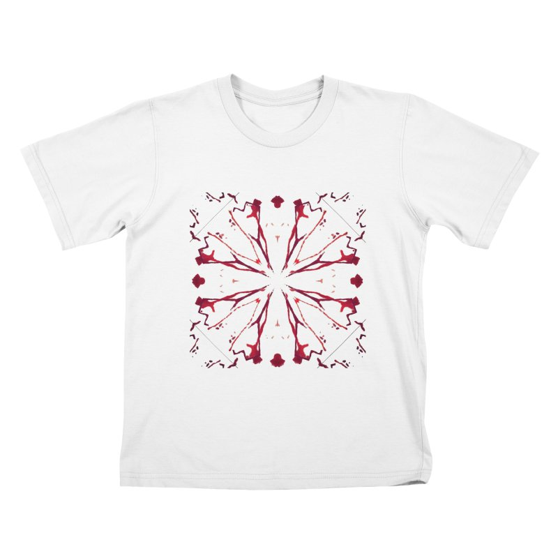 Blood Blossom Kids T-Shirt by Make Art Eat Pudding