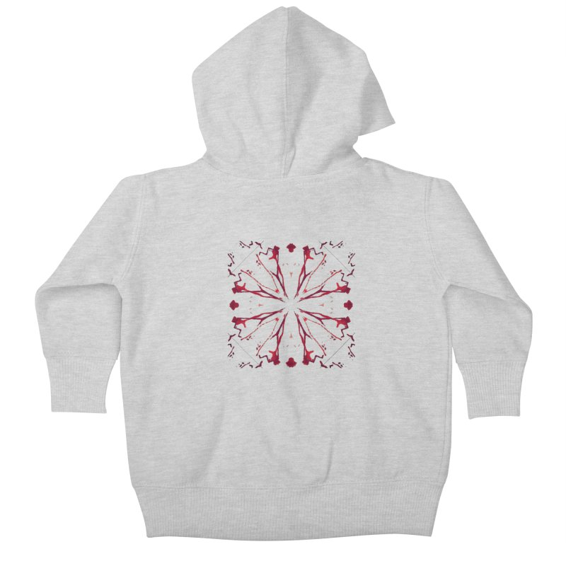 Blood Blossom Kids Baby Zip-Up Hoody by Make Art Eat Pudding