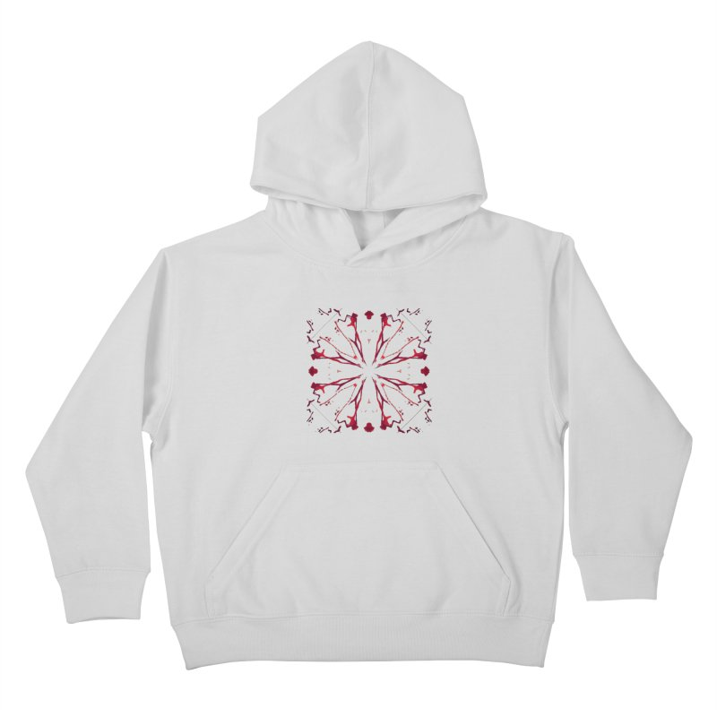 Blood Blossom Kids Pullover Hoody by Make Art Eat Pudding