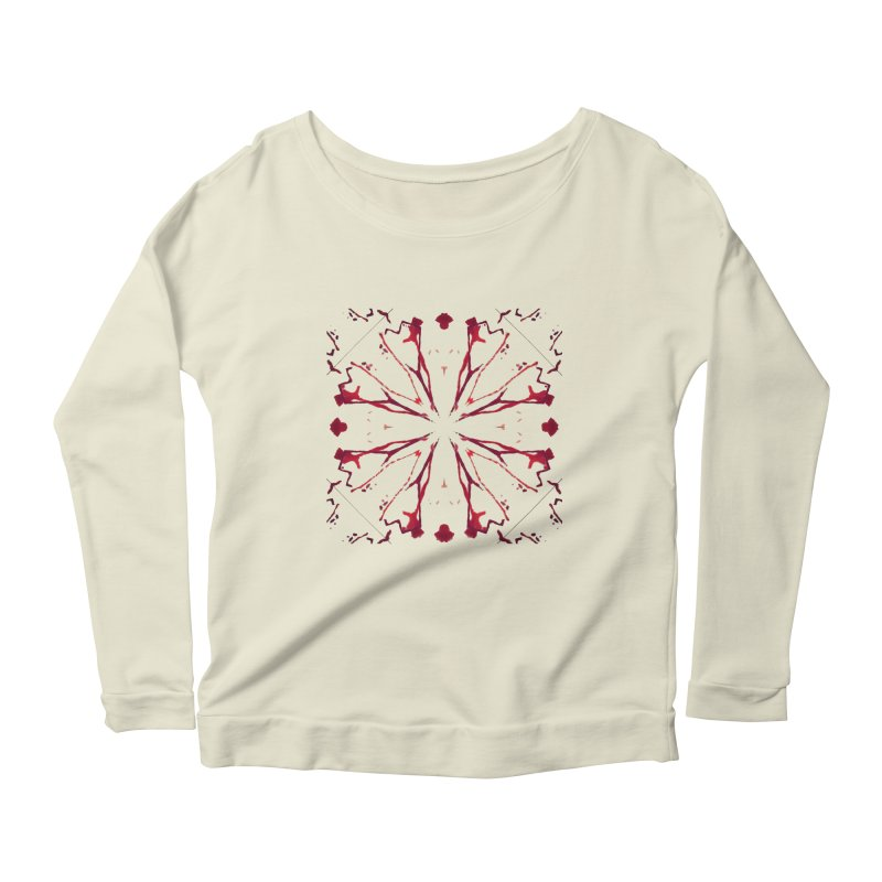 Blood Blossom Women's Scoop Neck Longsleeve T-Shirt by Make Art Eat Pudding