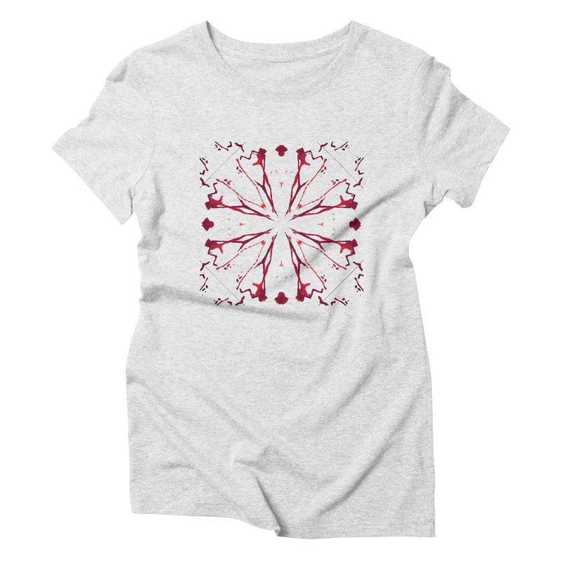 Blood Blossom Women's Triblend T-Shirt by Make Art Eat Pudding