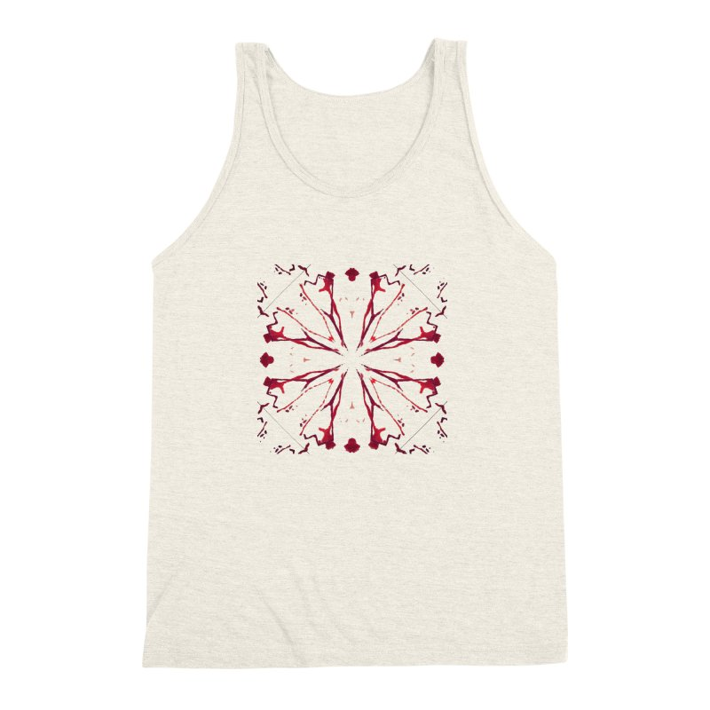 Blood Blossom Men's Triblend Tank by Make Art Eat Pudding