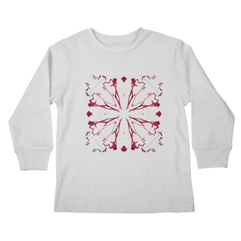 Blood Blossom Kids Longsleeve T-Shirt by Make Art Eat Pudding