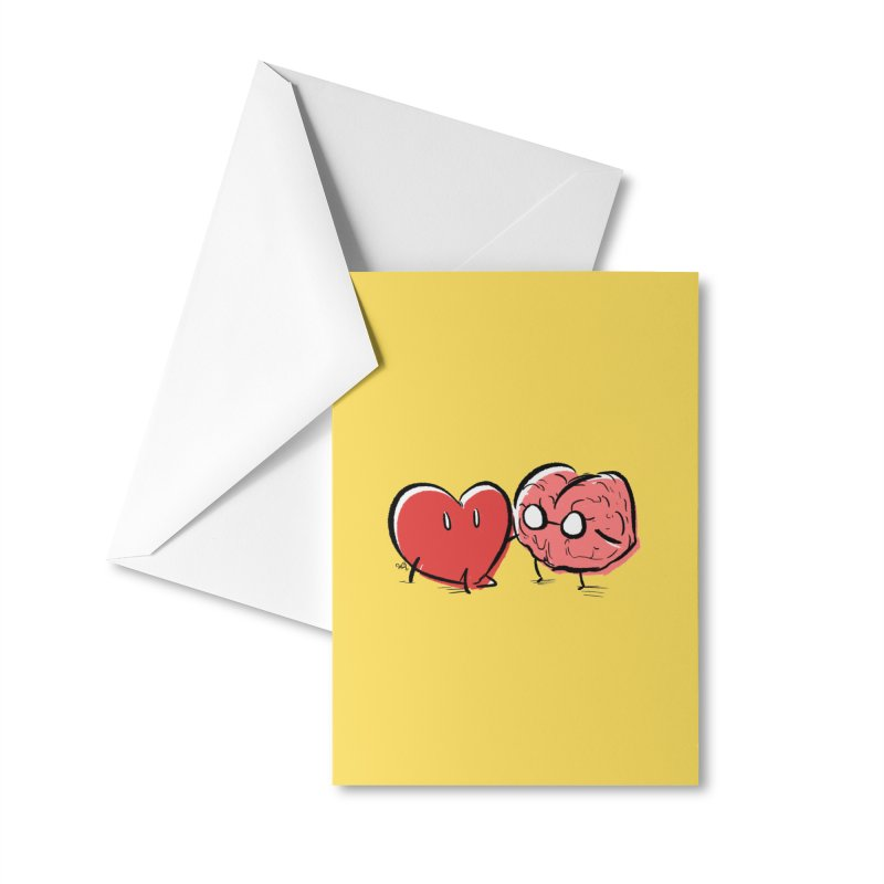 Heart & Brain Sticker Accessories Greeting Card by Heart & Brain