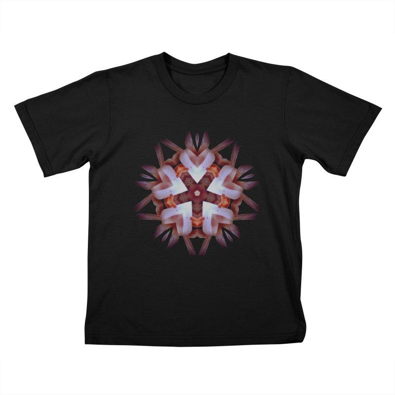 Heart Blossom Kids T-Shirt by Make Art Eat Pudding