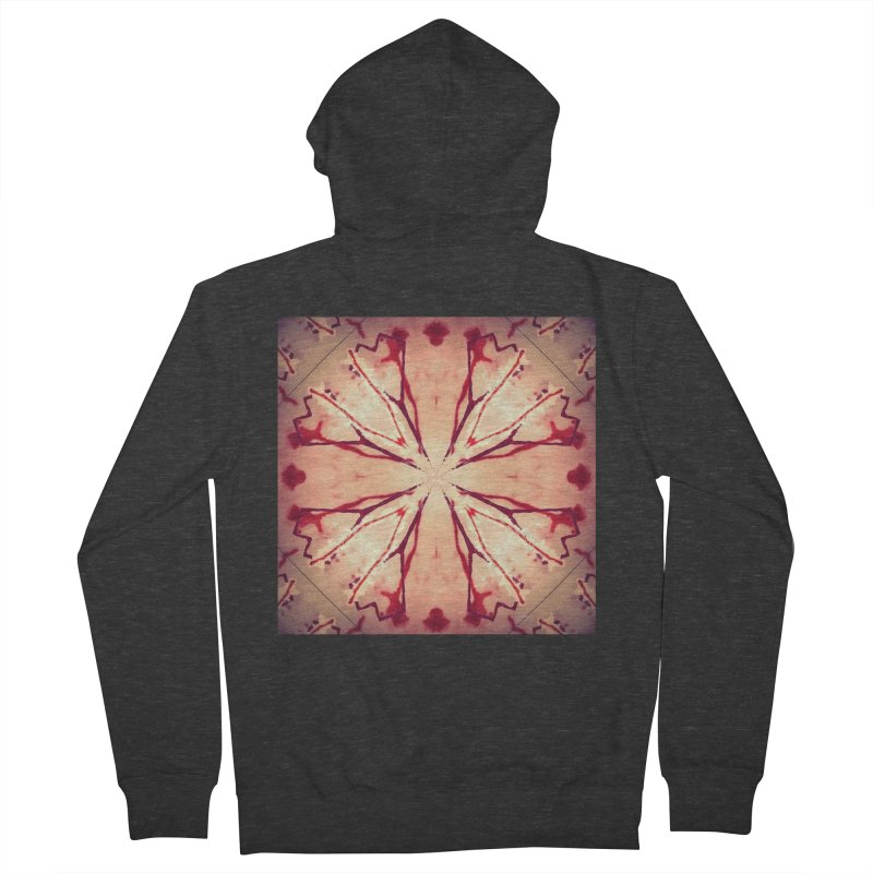 Blood Blossom Full Color Women's Zip-Up Hoody by Make Art Eat Pudding
