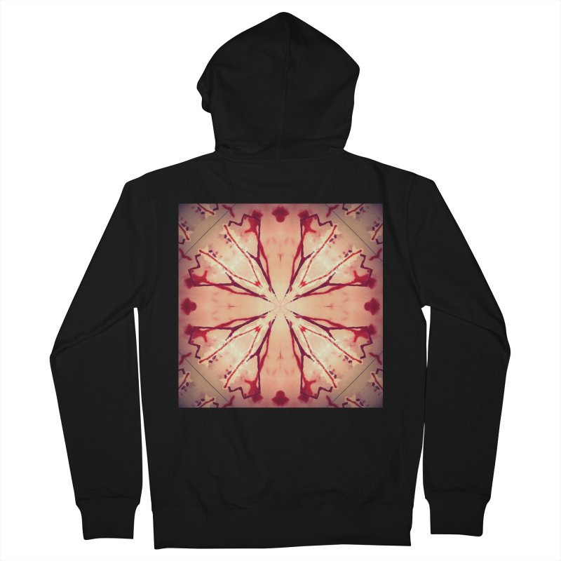 Blood Blossom Full Color Men's French Terry Zip-Up Hoody by Make Art Eat Pudding