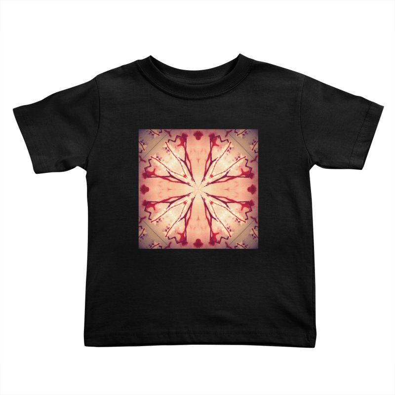 Blood Blossom Full Color Kids Toddler T-Shirt by Make Art Eat Pudding
