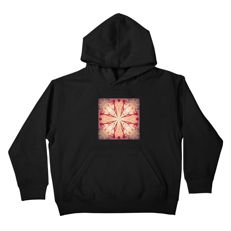 Blood Blossom Full Color Kids Pullover Hoody by Make Art Eat Pudding