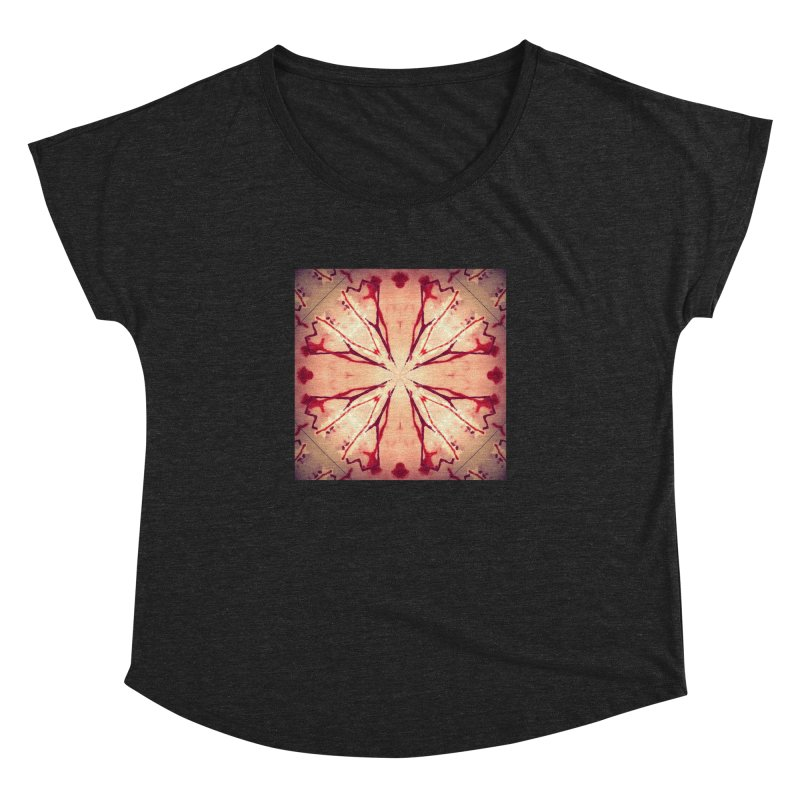 Blood Blossom Full Color Women's Dolman Scoop Neck by Make Art Eat Pudding