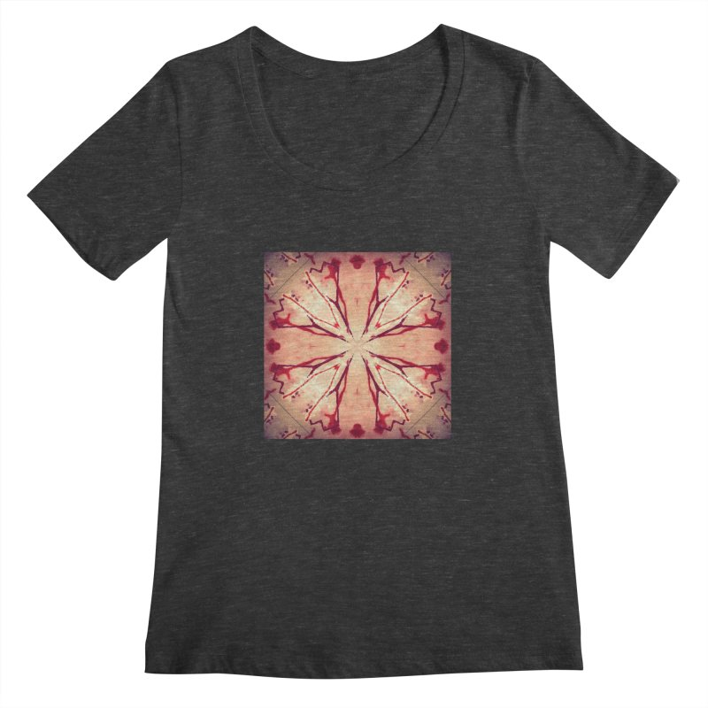 Blood Blossom Full Color Women's Scoopneck by Make Art Eat Pudding