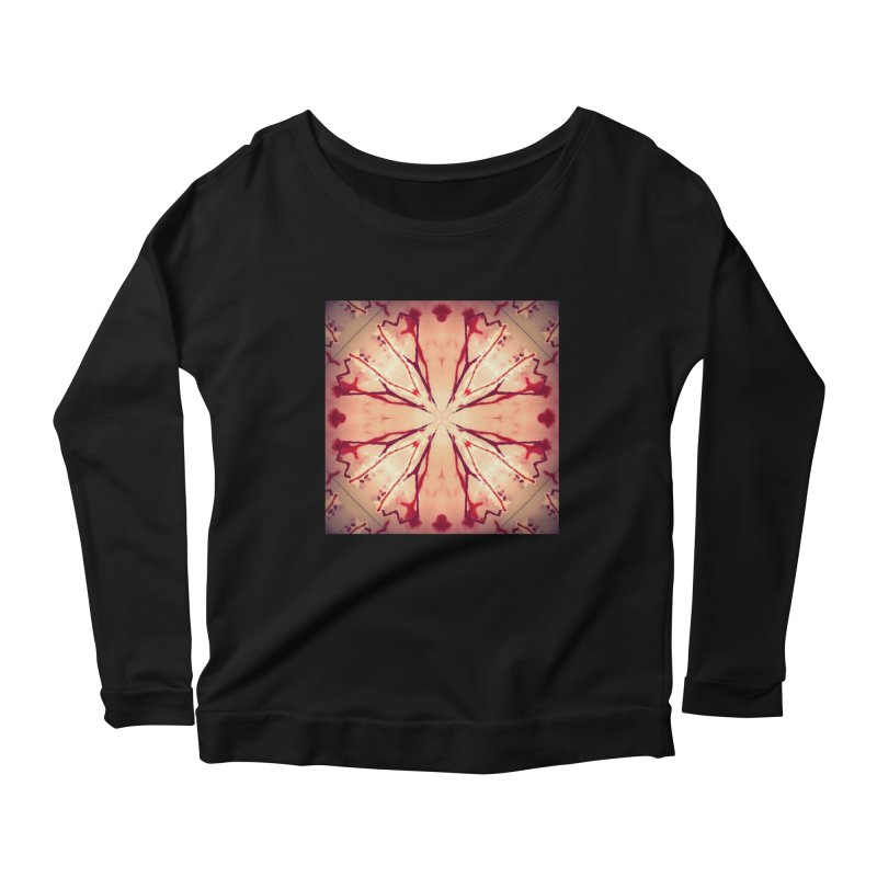 Blood Blossom Full Color Women's Scoop Neck Longsleeve T-Shirt by Make Art Eat Pudding