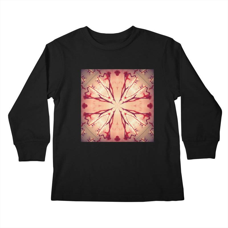 Blood Blossom Full Color Kids Longsleeve T-Shirt by Make Art Eat Pudding