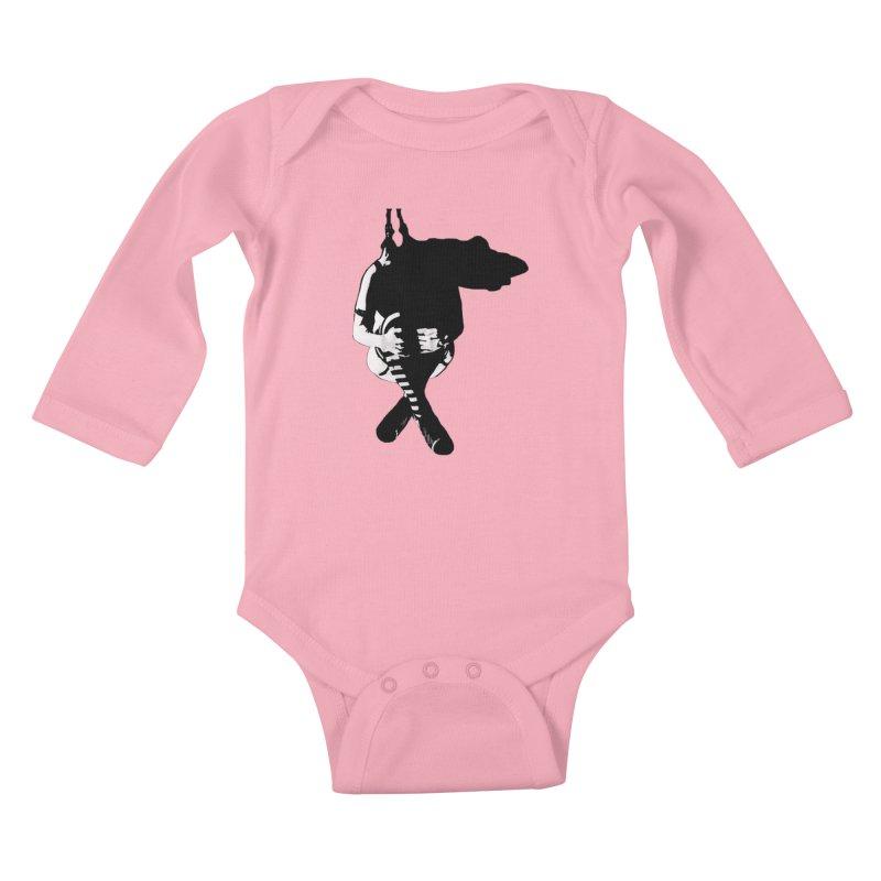 Suspense Kids Baby Longsleeve Bodysuit by Make Art Eat Pudding