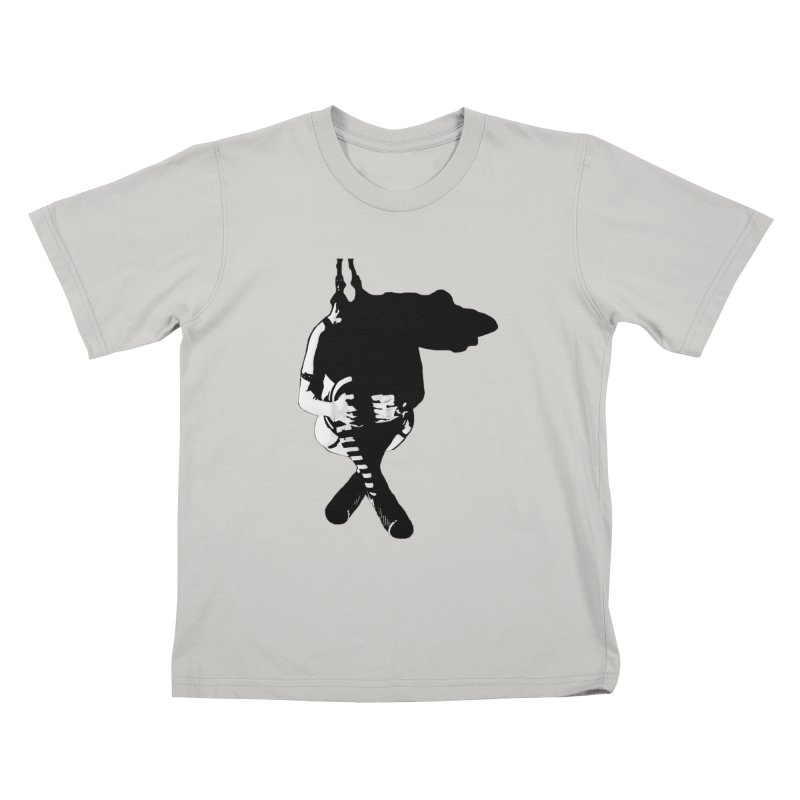 Suspense Kids T-shirt by Make Art Eat Pudding