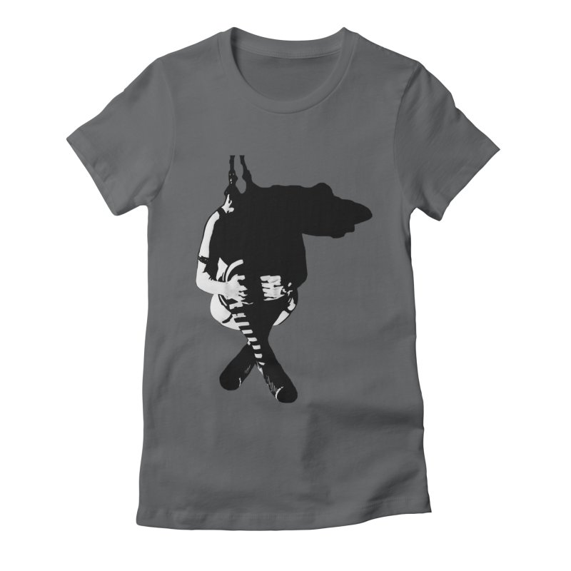 Suspense Women's Fitted T-Shirt by Make Art Eat Pudding