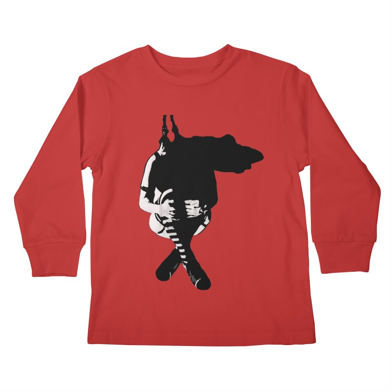 Suspense Kids Longsleeve T-Shirt by Make Art Eat Pudding