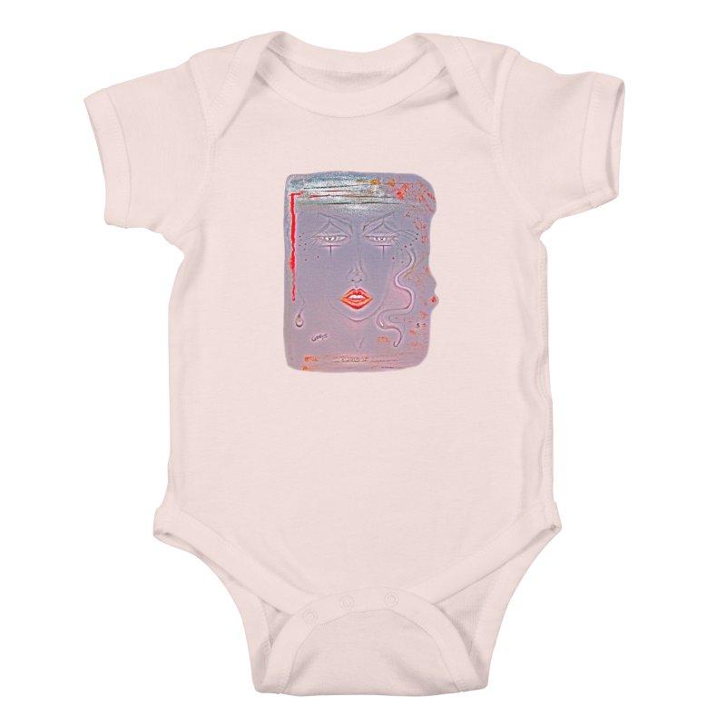 Sleepy Kids Baby Bodysuit by Make Art Eat Pudding