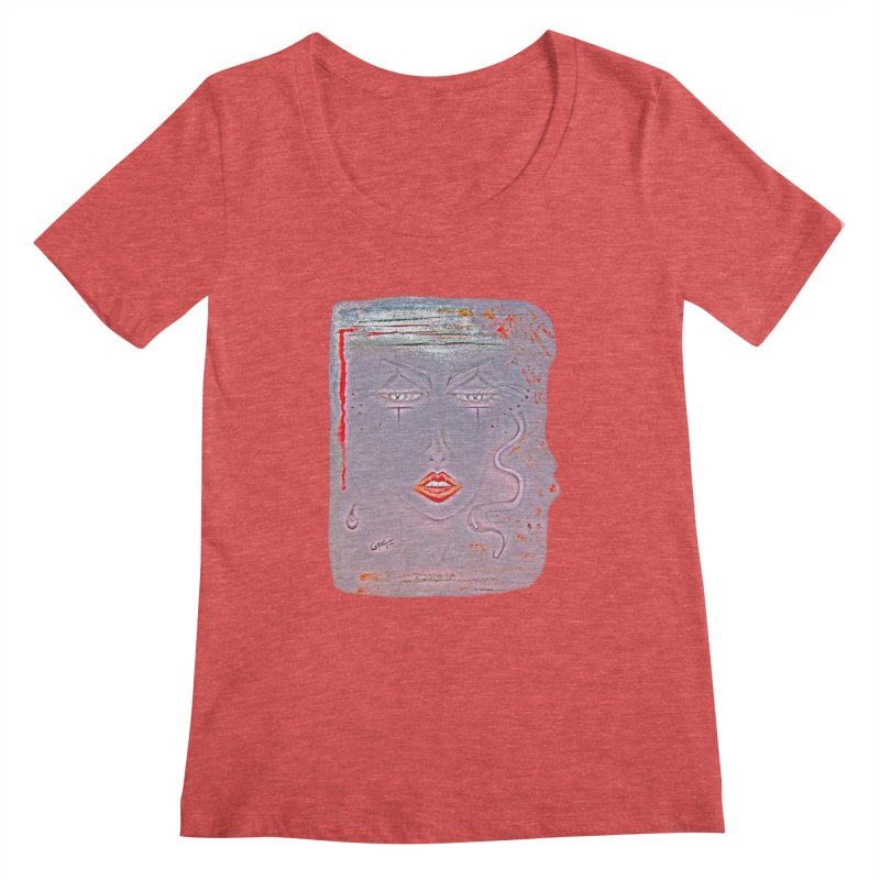 Sleepy Women's Scoopneck by Make Art Eat Pudding