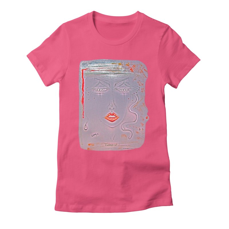 Sleepy Women's Fitted T-Shirt by Make Art Eat Pudding
