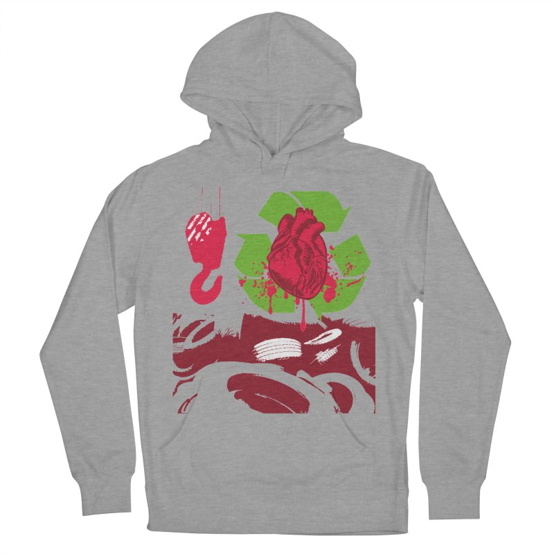 Recycle your Heart Women's French Terry Pullover Hoody by heavybrush's Artist Shop