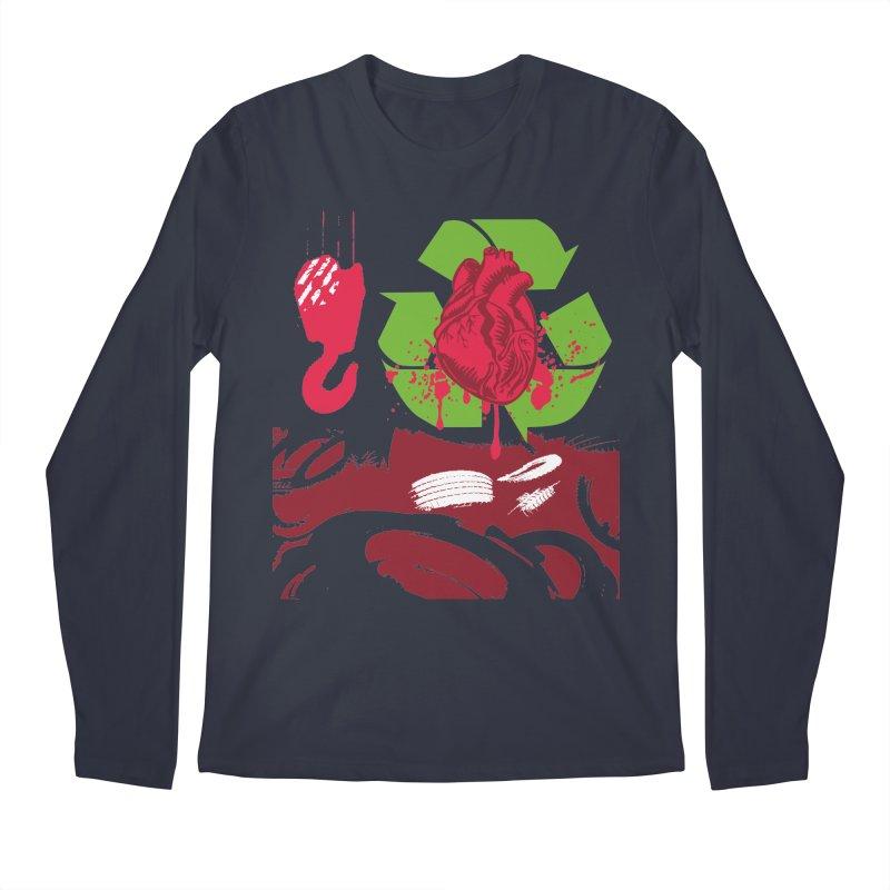Recycle your Heart Men's Regular Longsleeve T-Shirt by heavybrush's Artist Shop