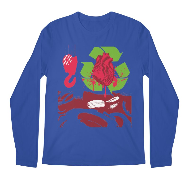 Recycle your Heart Men's Regular Longsleeve T-Shirt by heavybrush's Artist Shop