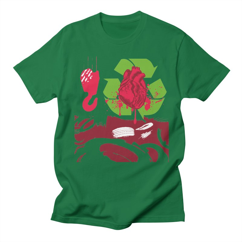 Recycle your Heart Women's Regular Unisex T-Shirt by heavybrush's Artist Shop