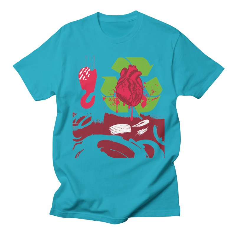 Recycle your Heart Men's Regular T-Shirt by heavybrush's Artist Shop