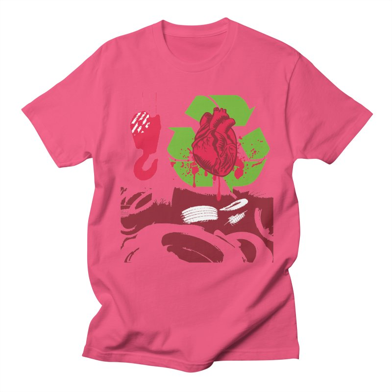 Recycle your Heart Women's Regular Unisex T-Shirt by heavybrush's Artist Shop