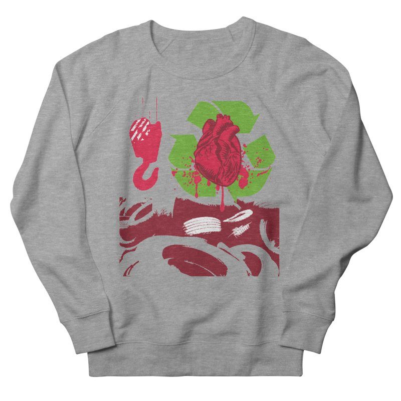 Recycle your Heart Men's French Terry Sweatshirt by heavybrush's Artist Shop