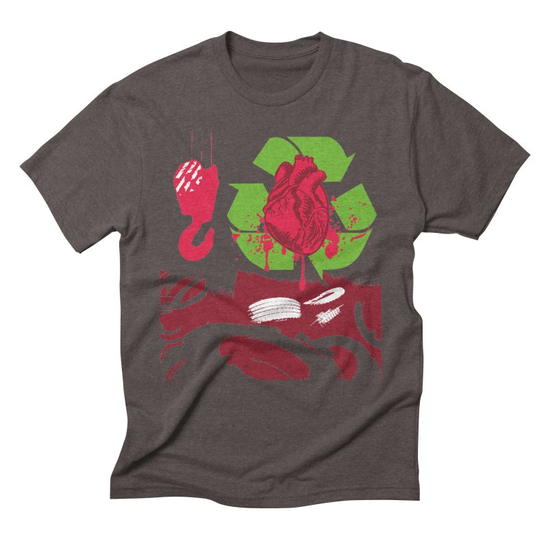 Recycle your Heart Men's Triblend T-Shirt by heavybrush's Artist Shop
