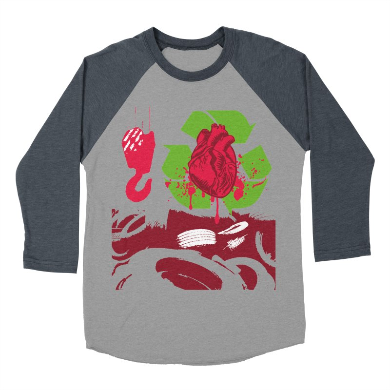 Recycle your Heart Women's Baseball Triblend Longsleeve T-Shirt by heavybrush's Artist Shop