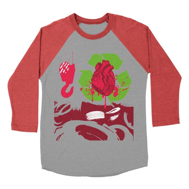 Recycle your Heart Men's Baseball Triblend Longsleeve T-Shirt by heavybrush's Artist Shop