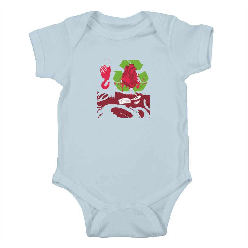 Recycle your Heart Kids Baby Bodysuit by heavybrush's Artist Shop