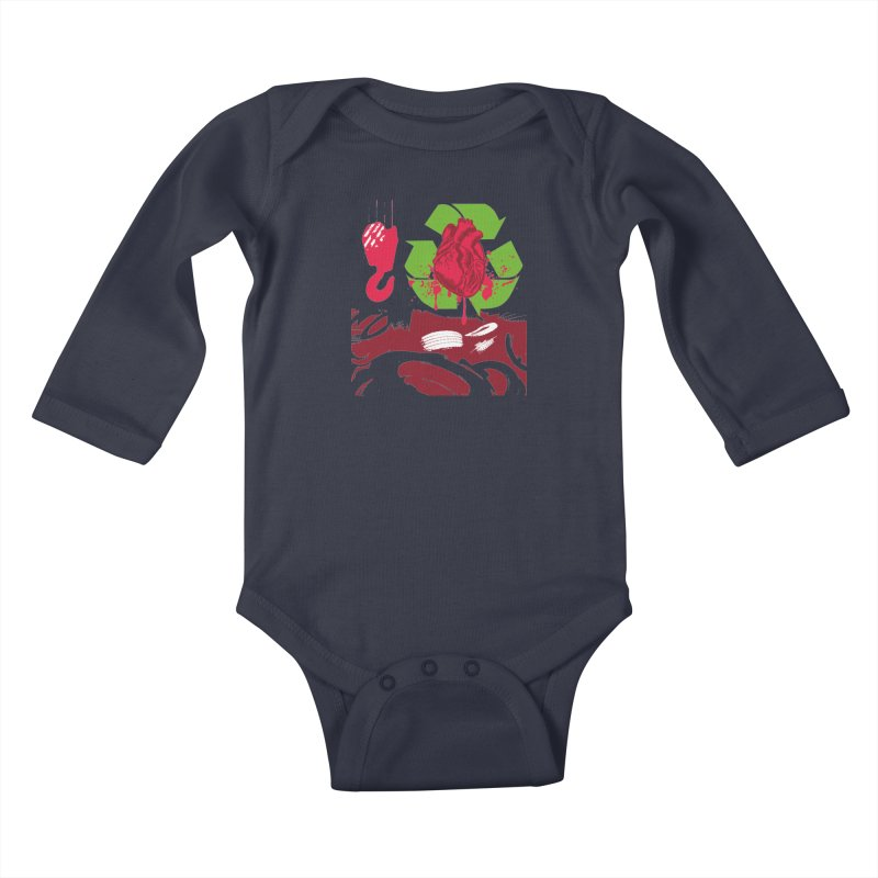 Recycle your Heart Kids Baby Longsleeve Bodysuit by heavybrush's Artist Shop