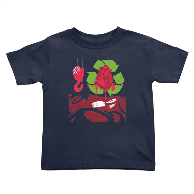 Recycle your Heart Kids Toddler T-Shirt by heavybrush's Artist Shop