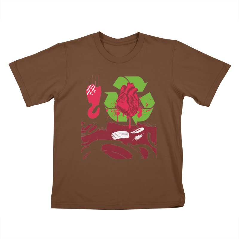 Recycle your Heart Kids T-Shirt by heavybrush's Artist Shop