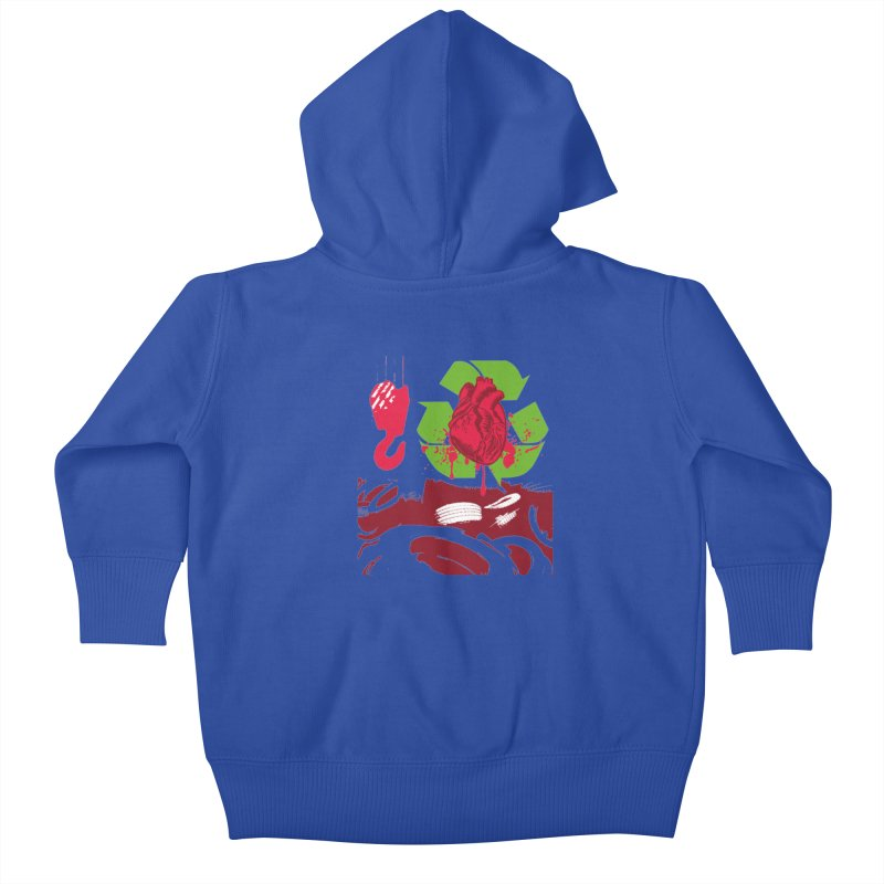 Recycle your Heart Kids Baby Zip-Up Hoody by heavybrush's Artist Shop