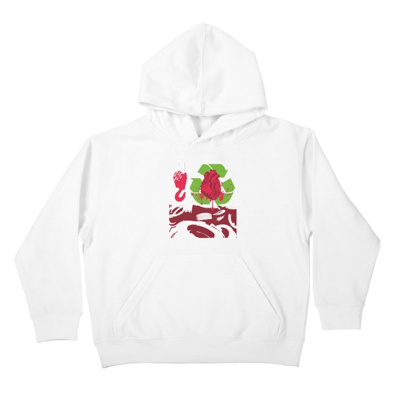 Recycle your Heart Kids Pullover Hoody by heavybrush's Artist Shop