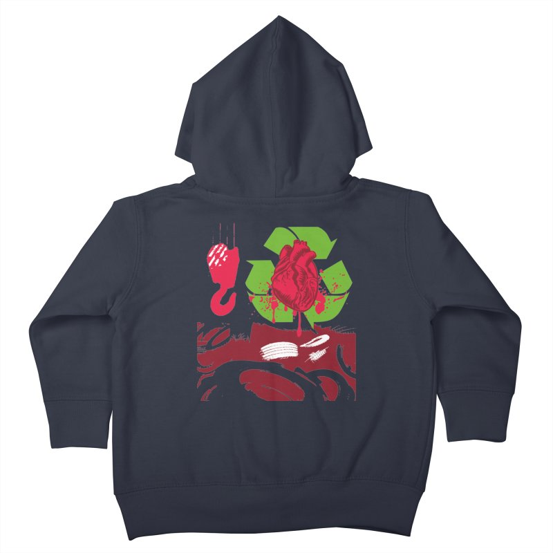 Recycle your Heart Kids Toddler Zip-Up Hoody by heavybrush's Artist Shop