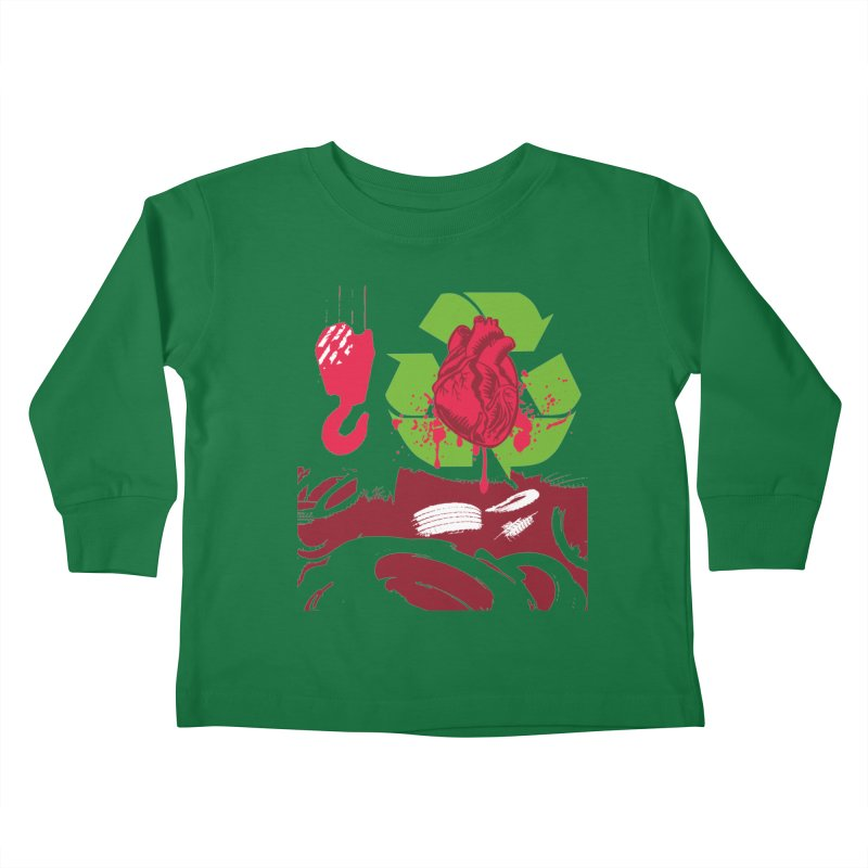 Recycle your Heart Kids Toddler Longsleeve T-Shirt by heavybrush's Artist Shop
