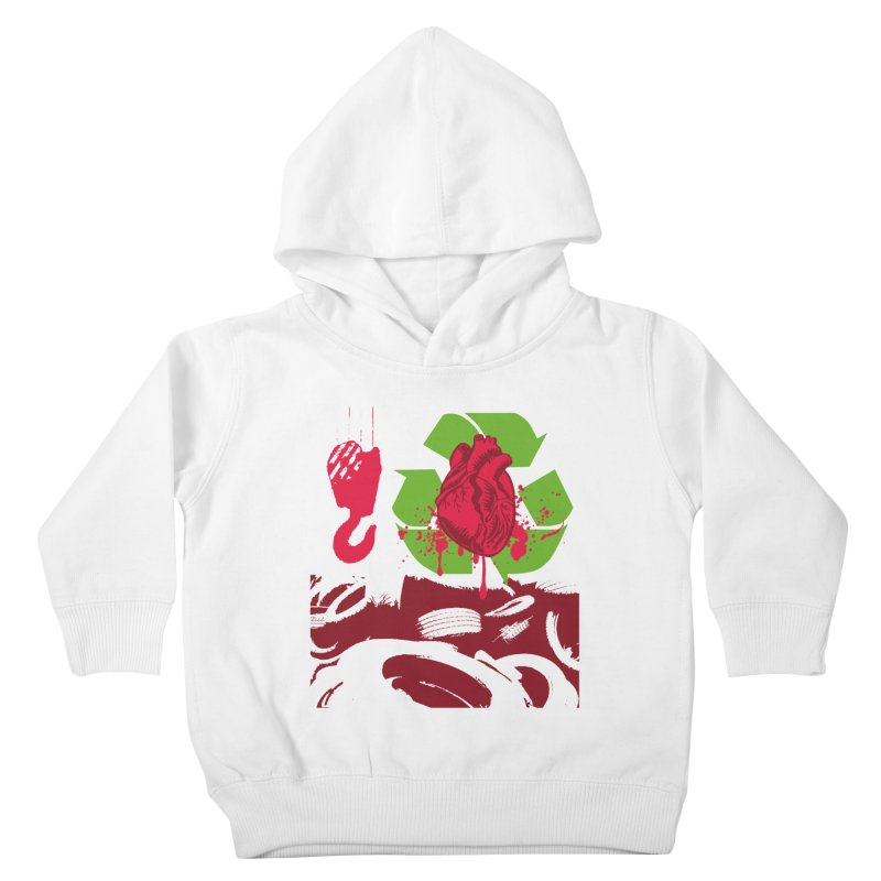 Recycle your Heart Kids Toddler Pullover Hoody by heavybrush's Artist Shop