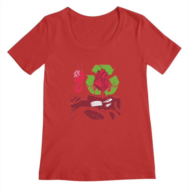 Recycle your Heart Women's Regular Scoop Neck by heavybrush's Artist Shop