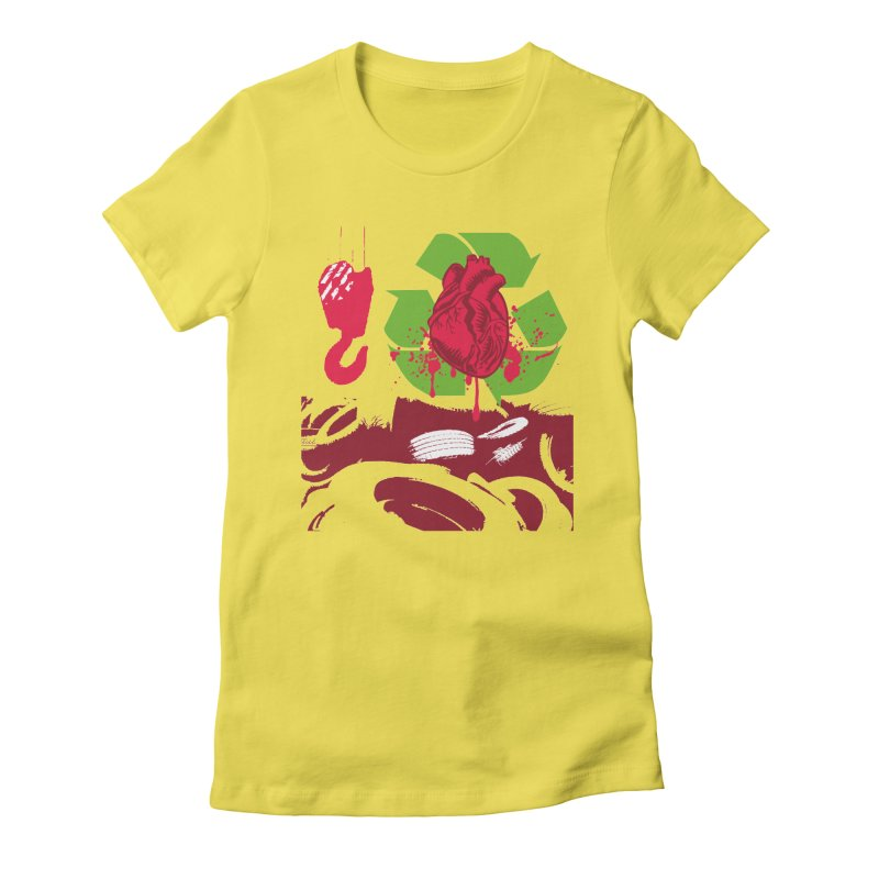 Recycle your Heart Women's Fitted T-Shirt by heavybrush's Artist Shop
