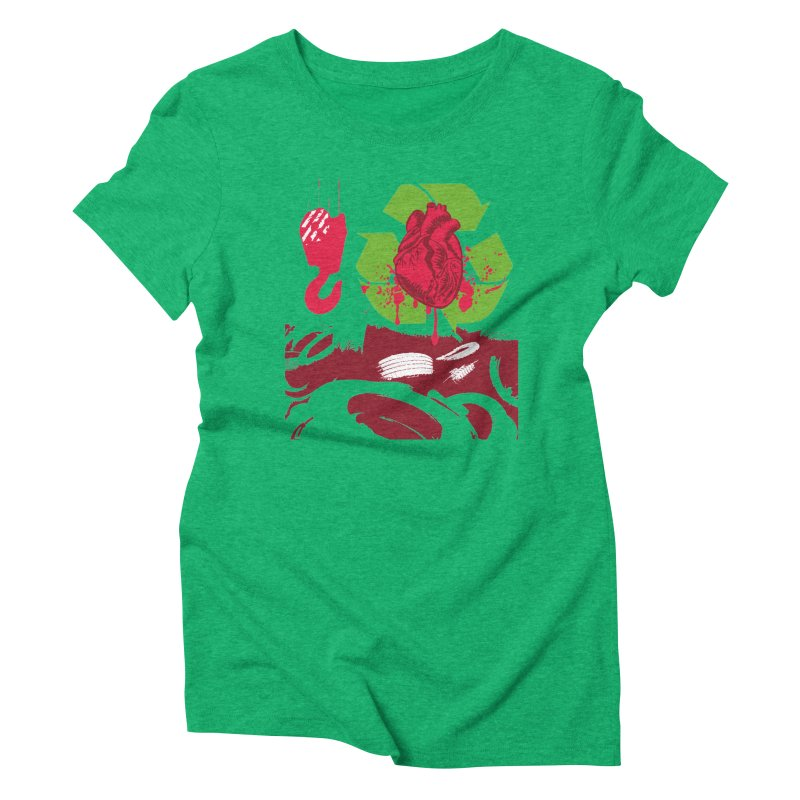 Recycle your Heart Women's Triblend T-Shirt by heavybrush's Artist Shop
