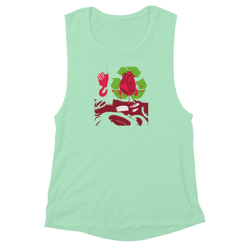 Recycle your Heart Women's Muscle Tank by heavybrush's Artist Shop