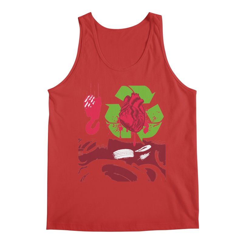 Recycle your Heart Men's Regular Tank by heavybrush's Artist Shop