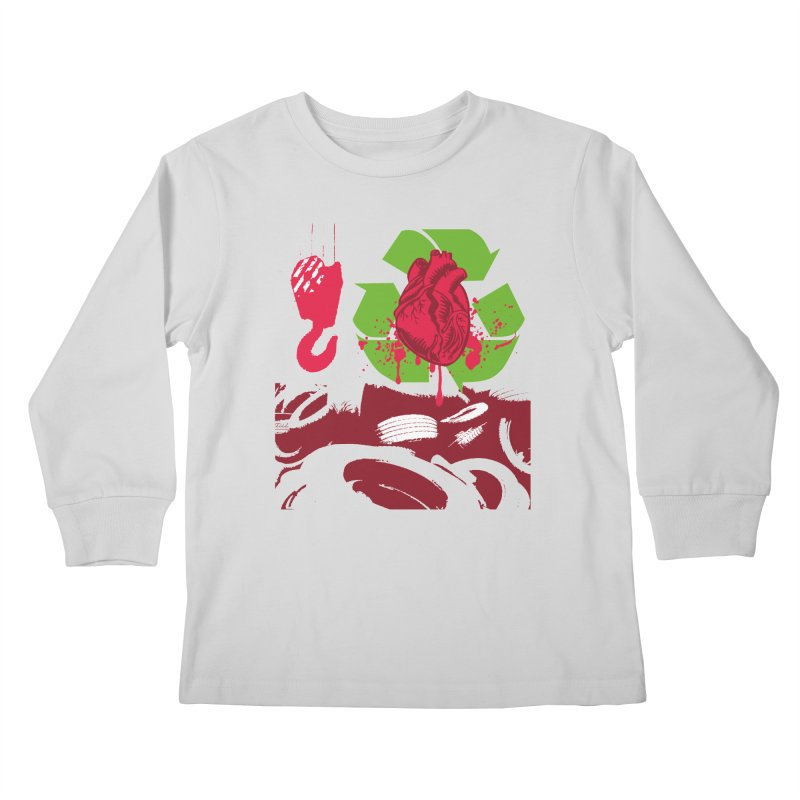 Recycle your Heart Kids Longsleeve T-Shirt by heavybrush's Artist Shop